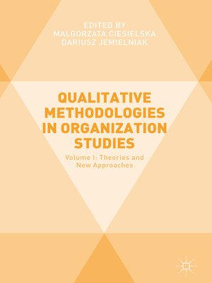 cover image of Qualitative Methodologies in Organization Studies
