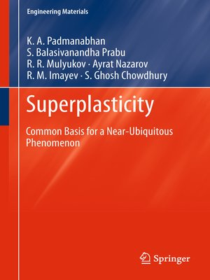 cover image of Superplasticity