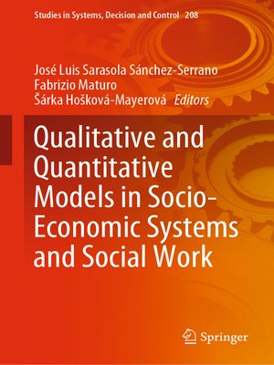 cover image of Qualitative and Quantitative Models in Socio-Economic Systems and Social Work