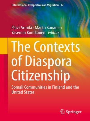 cover image of The Contexts of Diaspora Citizenship