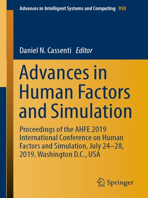 cover image of Advances in Human Factors and Simulation