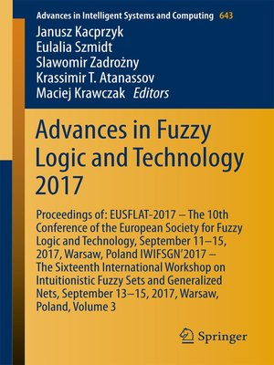 cover image of Advances in Fuzzy Logic and Technology 2017