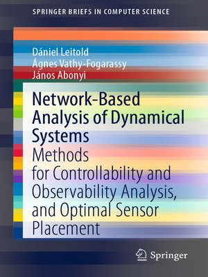 cover image of Network-Based Analysis of Dynamical Systems