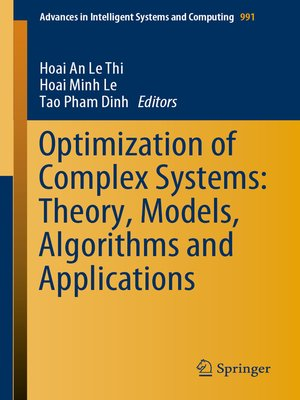 cover image of Optimization of Complex Systems