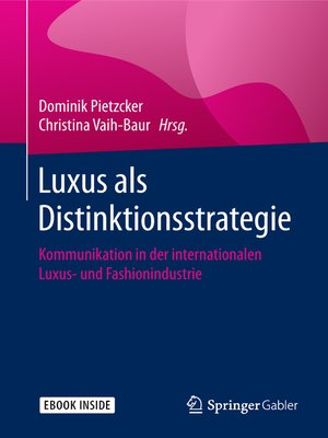 cover image of Luxus als Distinktionsstrategie