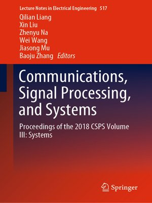 cover image of Communications, Signal Processing, and Systems