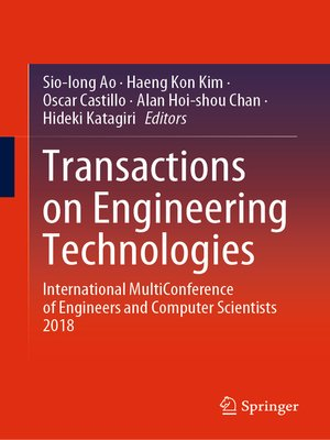 cover image of Transactions on Engineering Technologies
