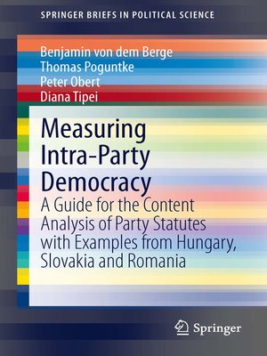 cover image of Measuring Intra-Party Democracy