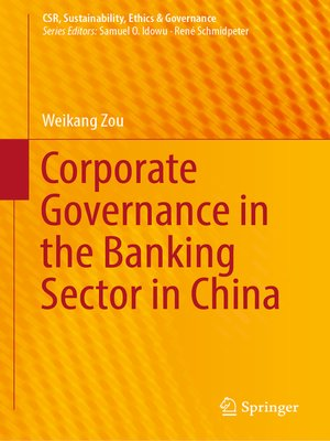 cover image of Corporate Governance in the Banking Sector in China