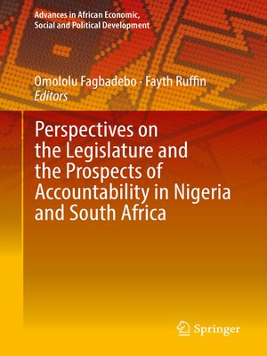 cover image of Perspectives on the Legislature and the Prospects of Accountability in Nigeria and South Africa