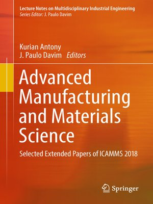 cover image of Advanced Manufacturing and Materials Science