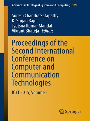 cover image of Proceedings of the Second International Conference on Computer and Communication Technologies