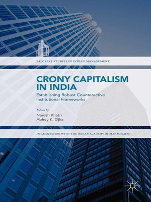 cover image of Crony Capitalism in India