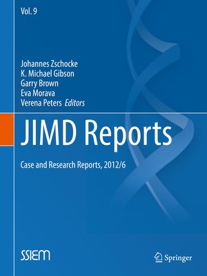 cover image of JIMD Reports--Case and Research Reports, 2012/6