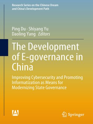 cover image of The Development of E-governance in China