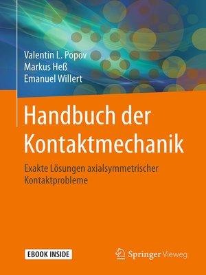 cover image of Handbuch der Kontaktmechanik