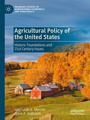 cover image of Agricultural Policy of the United States