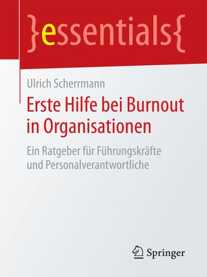 cover image of Erste Hilfe bei Burnout in Organisationen