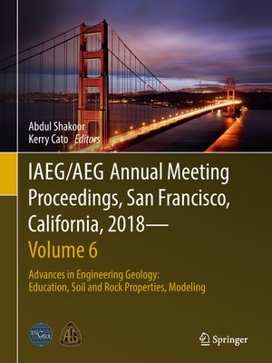 cover image of IAEG/AEG Annual Meeting Proceedings, San Francisco, California, 2018—Volume 6