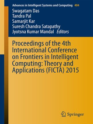 cover image of Proceedings of the 4th International Conference on Frontiers in Intelligent Computing