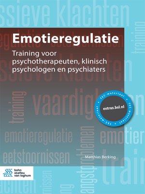 cover image of Emotieregulatie