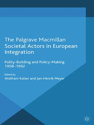 cover image of Societal Actors in European Integration