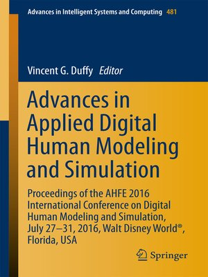 cover image of Advances in Applied Digital Human Modeling and Simulation