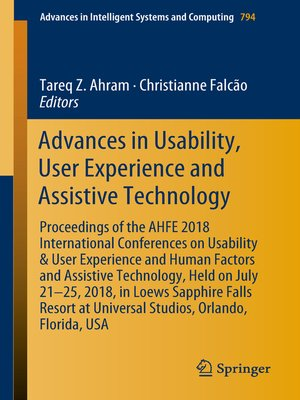 cover image of Advances in Usability, User Experience and Assistive Technology