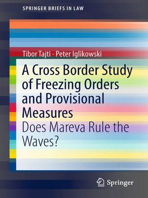 cover image of A Cross Border Study of Freezing Orders and Provisional Measures