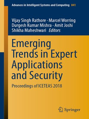 cover image of Emerging Trends in Expert Applications and Security