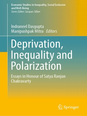 cover image of Deprivation, Inequality and Polarization
