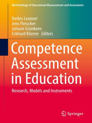cover image of Competence Assessment in Education