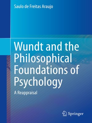 cover image of Wundt and the Philosophical Foundations of Psychology