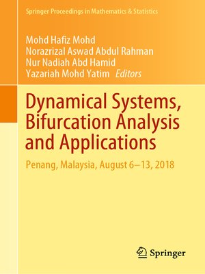 cover image of Dynamical Systems, Bifurcation Analysis and Applications