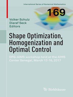 cover image of Shape Optimization, Homogenization and Optimal Control