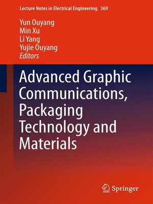 cover image of Advanced Graphic Communications, Packaging Technology and Materials