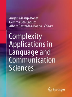 cover image of Complexity Applications in Language and Communication Sciences
