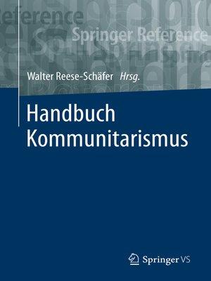 cover image of Handbuch Kommunitarismus