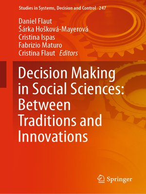 cover image of Decision Making in Social Sciences