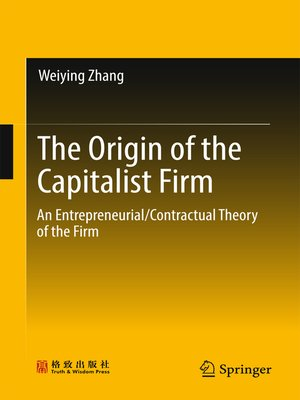 cover image of The Origin of the Capitalist Firm