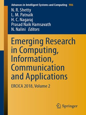 cover image of Emerging Research in Computing, Information, Communication and Applications