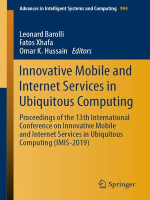 cover image of Innovative Mobile and Internet Services in Ubiquitous Computing