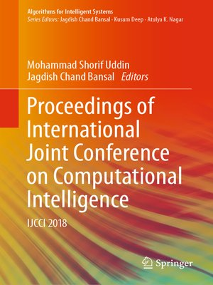 cover image of Proceedings of International Joint Conference on Computational Intelligence