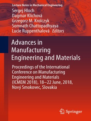 cover image of Advances in Manufacturing Engineering and Materials