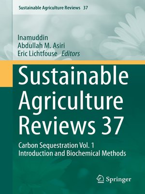 cover image of Sustainable Agriculture Reviews 37