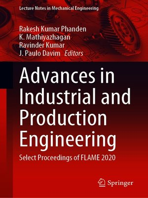 cover image of Advances in Industrial and Production Engineering