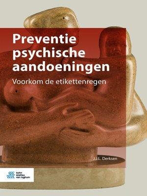 cover image of Preventie psychische aandoeningen