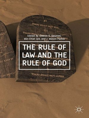 cover image of The Rule of Law and the Rule of God