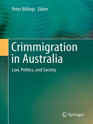 cover image of Crimmigration in Australia