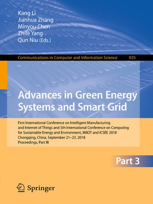 cover image of Advances in Green Energy Systems and Smart Grid
